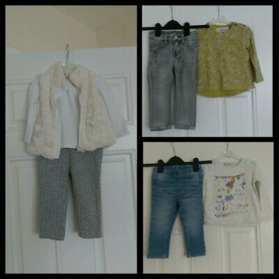 Baby Girls outfits bundle tops,trousers,gillet Next,H&M,Gap 12-18 Months