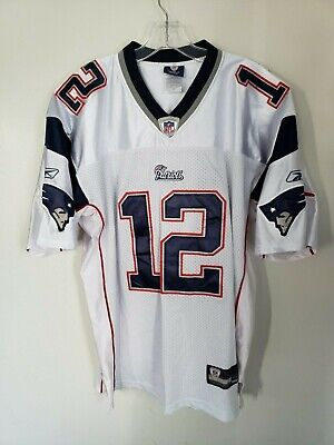 Reebok New England Patriots Tom Brady 12 Home Football Jersey Mens 50 XL Sewn