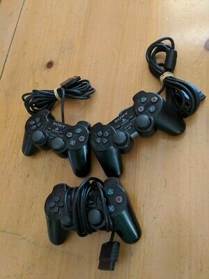 NON WORKING Playstation 2 (PS2) Original Controllers - Lot of 3 - SOLD AS IS