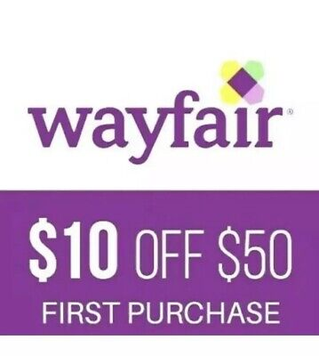 $10 off $50 Wayfair coupon for NEW Customers--FAST Online Delivery!