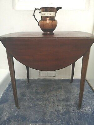 Antique Georgian Pembroke table, mahogany, drop leaf, inlaid, Collect from Poole