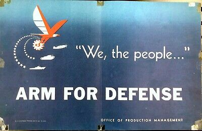 Original vintage WWII US poster - We the People Arm for Defense - 1941
