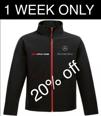 Mercedes AMG  embroidered Softshell Jacket Adults, Children's Formula 1 Racing