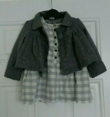 Girls outfit Matalan dress and George smart Jacket/coat 12-18 Months