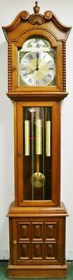 Vintage Kieninger 3 Weight Musical Westminster Chime Longcase Grandfather Clock