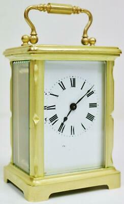 Stunning Antique French 8 Day Timepiece Carriage Clock With Platform Escapement