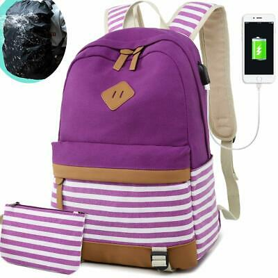 Teen Girls School Backpack Women College, Laptop Backpack with USB Charging Port
