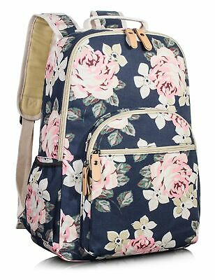 Leaper Big School Backpack for Girls Travel Bag Bookbag Satchel Bag Dark Blue