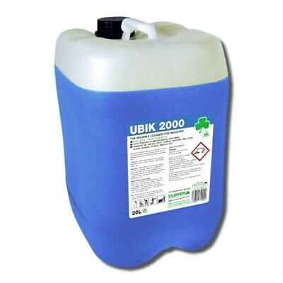 Clover Ubik 2000 20Ltr Drum Heavy Duty Universal Cleaner Concentrate Degreaser