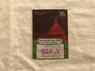 2013 Topps Mars Attack Invasion Charles Adlard Autograph Trading Card