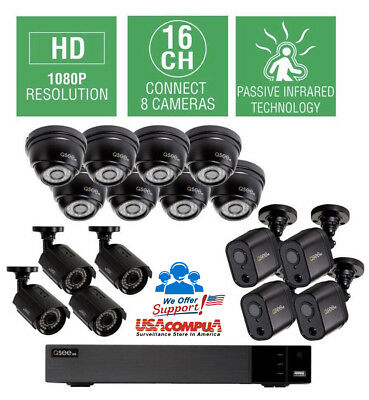 Q-SEE 16-CHANNEL HD Surveillance Camera System with 4 Bullet