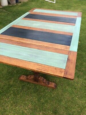 Vintage Extendable Dining Table,Oak,Rustic,Upcycled