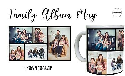 Personalised Mug Photo Collage Coffee Cup Birthday Christmas Mother Father Gift