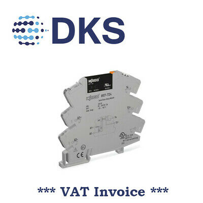 WAGO 857-724 Solid State Relay Module 3A SSR 24VDC / 0..24VDC 001438