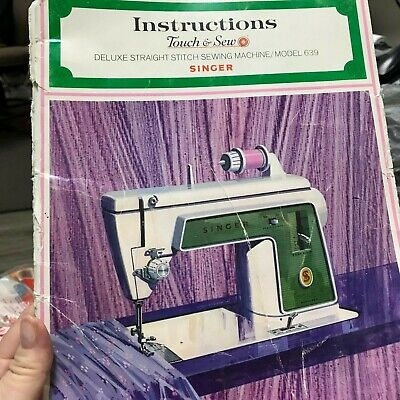 Singer Touch & Sew Sewing Machine Model 639 Instruction Manual Owners Manual