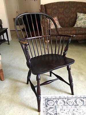 VTG Solid Mahogany Hoop-back Windsor Colonial Arm Chair, Armchair, BEAUTIFUL!