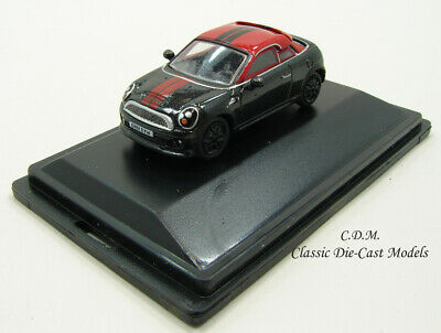 BNIB OO GAUGE OXFORD 1:76 76MC002 MINI COUPE MIDNIGHT BLACK /& RED CAR