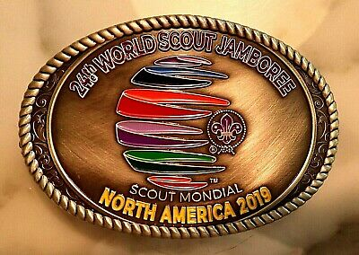 24th 2019 WORLD SCOUT JAMBOREE OFFICIAL WSJ WOSM PEWTER BELT BUCKLE NOT PATCH