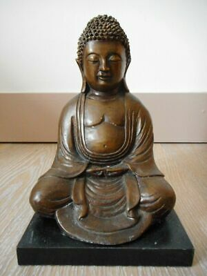 China Chinese Qing Dynasty Bronze Buddha Statue with Wood Platform