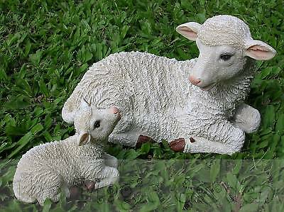 Sheep and baby lamb garden ornament cement concrete plaster latex moulds molds