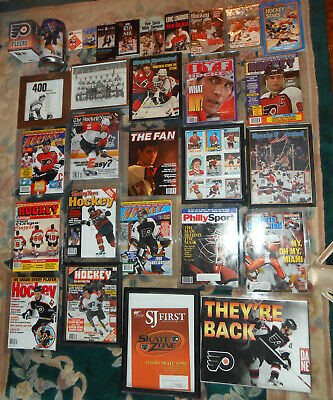 60 Philadelphia Flyers Items wMags Posters Books Pennants Shirts Cards Photos NR