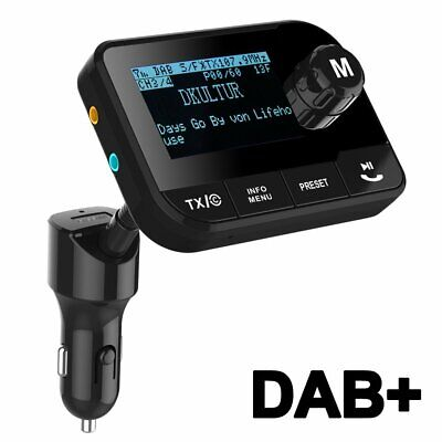 Blufree In Car Dab+ Radio Adapter Fm Transmitter, Bluetooth Mp3 Music Receiver H