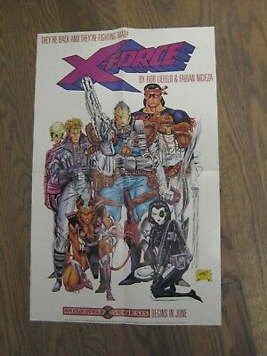 Promo Poster - X-Force - 1991 Rob LIefeld - Marvel Comics - Cable             ZZ