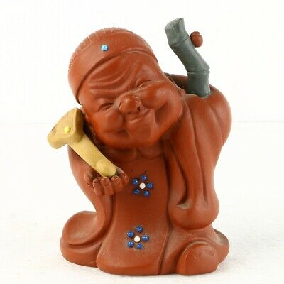 Chinese Yixing ZiSha Sculpture Hand Carved Figure Statue MC12
