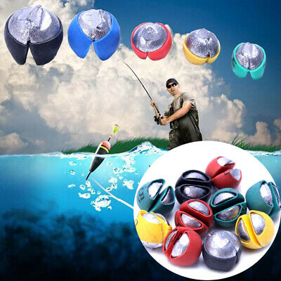 1 Bag Fish Angling Lead Weight Split Shot Rig Sinkers Covered Protect Fishing ~