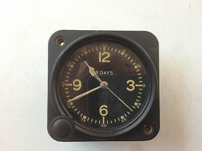 Elgin National Watch Co Aircraft Military Clock, Working