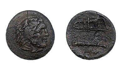 kings of macedon alexander the great AE-bow-bowcase-club-torch-countermark