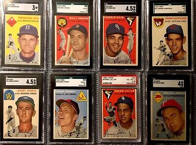 1954 Topps Lot of 62 Graded Cards SGC PSA Partial Set ** See Player List Below