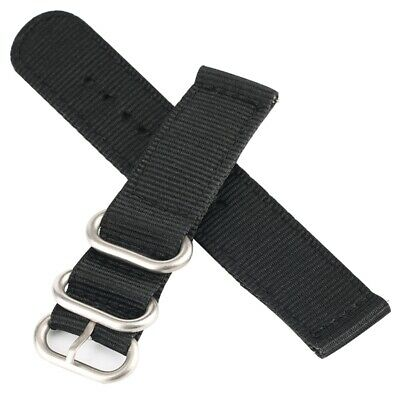 20mm 22mm Nylon Watch Band Canvas Strap Replacement Belt with Steel Buckle