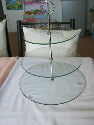 3 Tier Glass serving tray party buffet