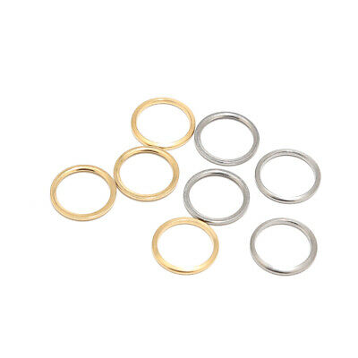 Gold/Silver Plated Closed Jump Ring Stainless Steel Round Ring Jewelry Findings