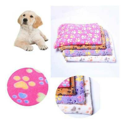 Pet Blanket Puppy Dog Bed Mat Paw Print Pad Kitten Cat Soft Sleeping Cover New