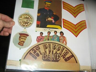 The Beatles scrapbook items sgt pepper cut outs + 4 white lp pictures very nice>