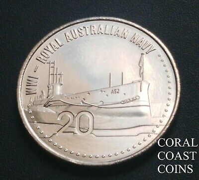 2015 20c Cent Coin WW1 Australian Navy Beautiful Specimen Coins EX Roll.