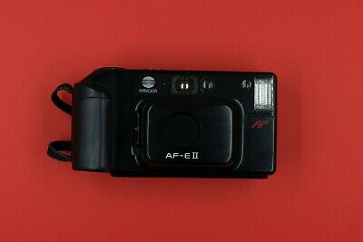 Minolta AF-E II - compact 35mm film camera - excellent condition - fully tested