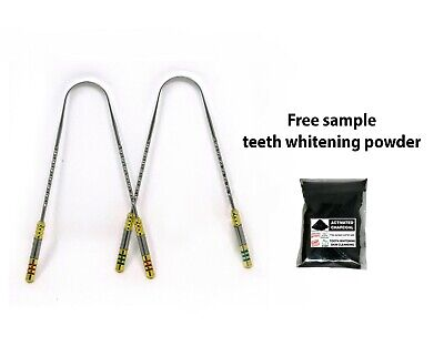 WC_Stainless steel tongue cleaner with brass pipe handles,rustproof steel