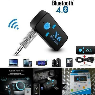X6 Wireless Bluetooth USB Receiver 35mm Audio Jack TF Card For Car Speaker
