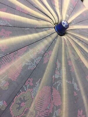 Early 1900s Parasol Umbrella Victorian Floral Turn Of The Century Bakelite HandL