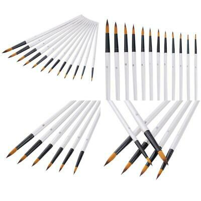 BEST 12 Pieces Paint Brushes Set For Acrylic Watercolor Oil Painting White GIFT