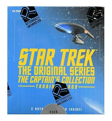 Star Trek The Original Series The Captain's Collection Trading Cards Box 2 AUTOS