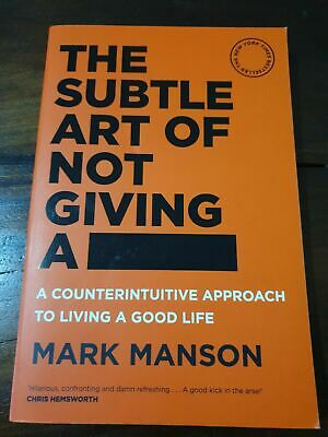 The Subtle Art of Not Giving a F*ck by Mark Manson Paperback Book (A3)