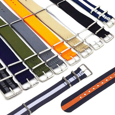 Universal  Nylon Weaving Loop Watch Strap Band Heavy Duty 18 20 22 mm~