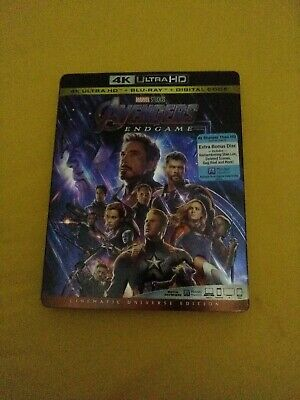 Avengers Endgame 4K ultra and Blu-ray Slipcover~First Class Ship! no digital