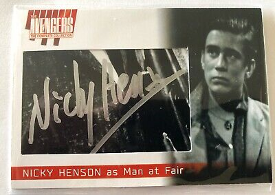 2019 The Avengers Complete Collection Oversize Cut Auto Card NH9 Nicky Henson