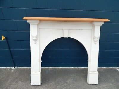 Victorian Mantelpiece & Fire Surround and Free Cast Iron Fireplace