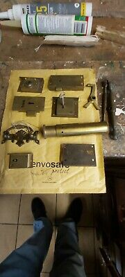 Antique Brass Hinges and drawer locks